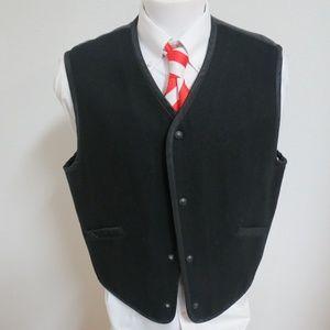 Sz XL Black Structure Lined Mens Wool #84K Vest